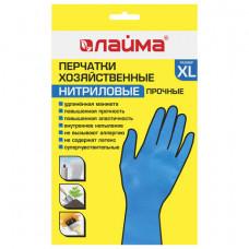 Перчатки р.XL хоз. нитриловые ЛАЙМА НИТРИЛ ПРОЧНЫЕ, 30гр/пара, х/б напыление,