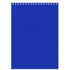"Блокнот А5 80л. на гребне  ""Синий"", 145х212 мм"