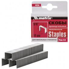 """Скобы для мебельного степлера тип 53, 14 мм, MATRIX """"MASTER"""", закаленные, количество 1000 шт.,"""