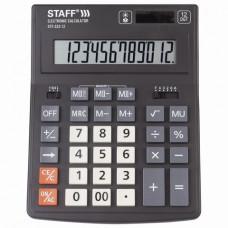 Калькулятор настольный 12 разр STAFF PLUS STF-333, двойное питание, 200х154мм