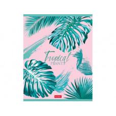Тетрадь А5 48 л.кл. Тропические листья, ассорти, Хатбер