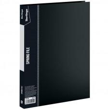"""Папка с пруж. скоросшивателем 17мм 700мкм черная  с карманом Berlingo """"Standard"""""""