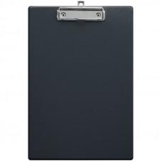 Планшет с зажимом А4  ПВХ черный OfficeSpace