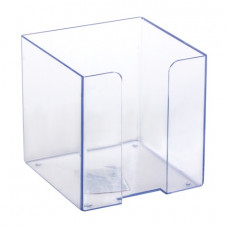 Подставка для бумажного блока 9х9х9 см СТАММ пластиковая, прозрачная