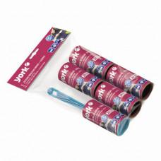 Ролик для чистки одежы и удаления ворса + 4 сменных блока по 20 листов, YORK, европодвес, 68020