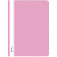 Скоросшиватель пластиковый А4 180мкм, розовый с прозр. верхом Berlingo
