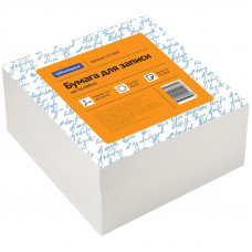 Блок для записей 90х90х45 мм белый проклеенный OfficeSpace