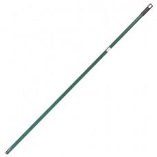 Черенок для уборочного инвентаря 130 см, еврорезьба, металлопластик, усиленный, зеленый, SVIP, SV305