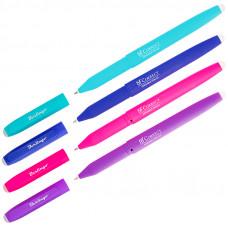 """Ручка гелевая синяя 0,6 мм. стираемая Berlingo """"Correct"""" прорезин. корпус, корпус ассорти"""