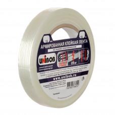 Клейкая лента армированная Unibob, 19*50 (на основе стекловолокна)