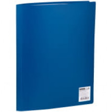 Папка 30 вкладышей  синяя  20мм, 400мкм,  OfficeSpace,