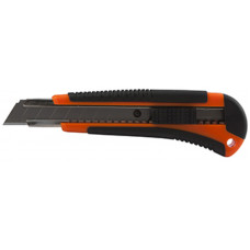 Нож 18 мм канцелярский резин.вставки Lamark
