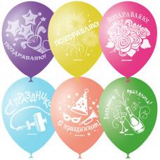 """Воздушные шары, 50шт., M12/30см, Поиск """"Праздничная тематика"""", шелк"""