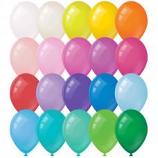Воздушные шары, 100шт., М12/30см, ArtSpace, пастель, 20 цветов ассорти