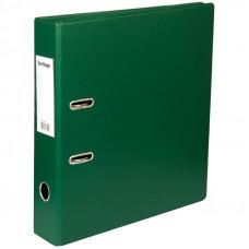 Папка-регистратор 70 мм ПВХ темно-зеленая  с карманом на корешке,  Berlingo