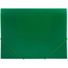 Папка на резинке  А4, 500мкм, зеленая OfficeSpace