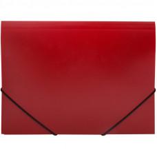 Папка на резинке  А4, 500мкм, красная OfficeSpace