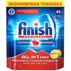 """Таблетки для посудомоечной машины Finish """"All in 1 Max. Лимон"""", 65шт."""