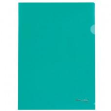 Папка-уголок А4 100мкм зеленая BRAUBERG