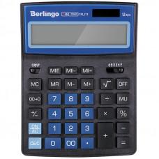"""Калькулятор настольный 12 разр. Berlingo """"City Style"""", двойное питание, 205*155*28, черный/синий"""