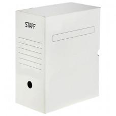 Короб архивный 150 мм, с клапаном, микрогофрокартон,  до 1400 листов, белый, STAFF