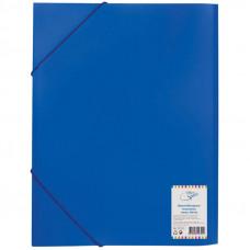 Папка на резинке  А4, 500мкм, синяя OfficeSpace
