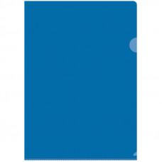Папка-уголок А4 150мкм, прозрачная синяя OfficeSpace