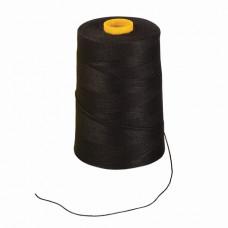 Нить лавсановая для прошивки документов, ЧЕРНАЯ, диаметр 1 мм, длина 1000 м, BRAUBERG