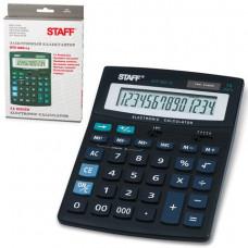 Калькулятор настольный 14 разр. STAFF STF-888-14, двойное питание, 200х150мм