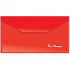 Папка-конверт на кнопке C6 180мкм, красная Berlingo