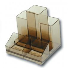 Подставка-органайзер BRAUBERG-CONTRACT, 109х95х101,5 мм, 5 отделений, тонированная,