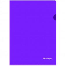 Папка-уголок А4 180мкм, прозрачная фиолетовая Berlingo