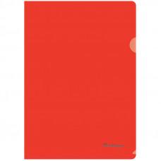 Папка-уголок А4 180мкм, прозрачная красная Berlingo