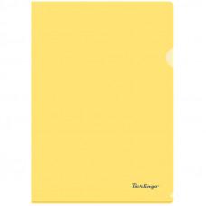Папка-уголок А4 180мкм, прозрачная желтая Berlingo