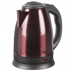 Чайник SONNEN KT-118С, 1,8 л, 1500 Вт, закрытый нагревательный элемент, нержавеющая сталь, кофейный,