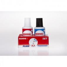 Набор корректирующая жидкость и разбавитель 20мл х 2 KORES FLUID