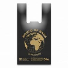 Пакет майка 43+20*65 30мкм World 100 шт/уп