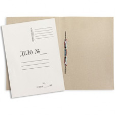 """Папка для бумаг с завязками 360г/м2, картон немелованный, белая """"ДЕЛО"""""""