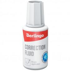 Корректирующая жидкость 20 мл Berlingo на спиртовой основе