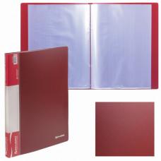 Папка 20 вкладышей  красная, 0,6 мм,  кор 16 мм  BRAUBERG стандарт