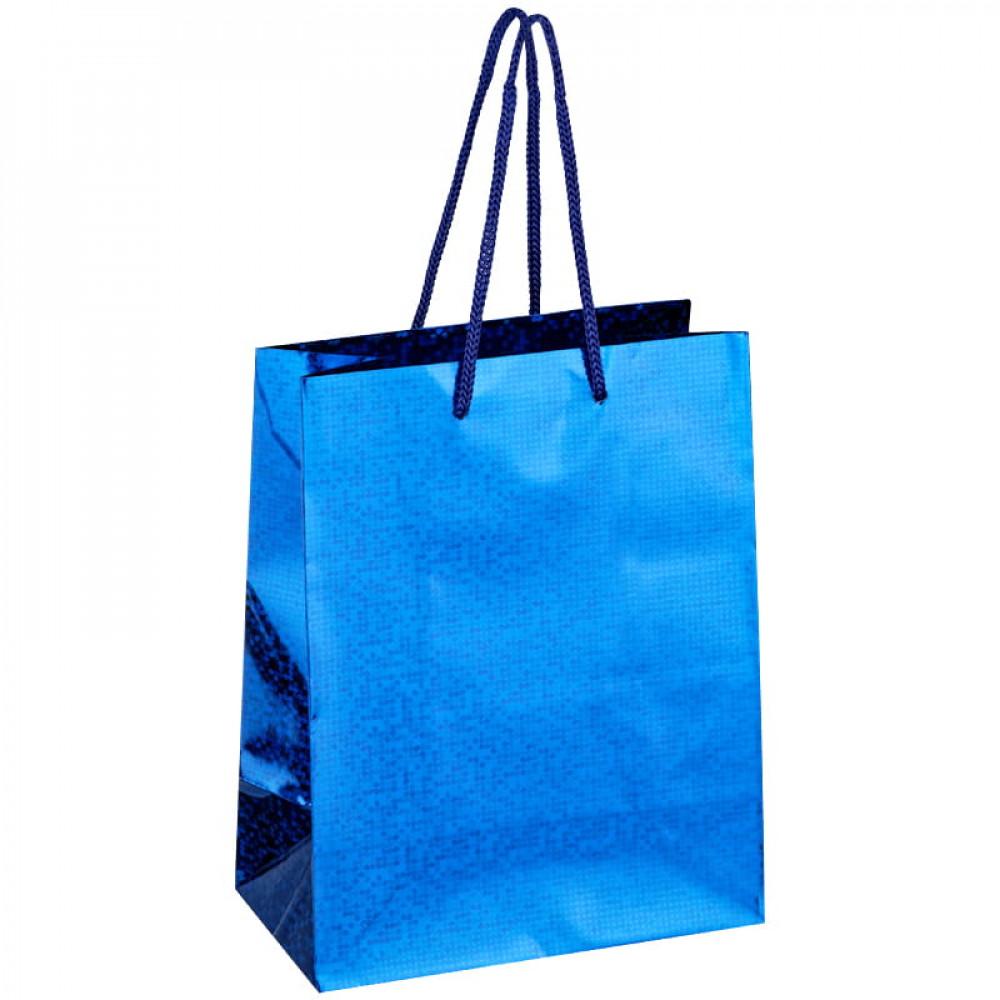 Пакет подарочный 18*23*10см ArtSpace, голографический синий