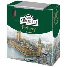 """Чай Ahmad Tea """"Earl Gray"""", черный с бергамотом, 100 фольг. пакетиков по 2г"""