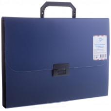 Папка-портфель 13 отделений , 700мкм, синий OfficeSpace