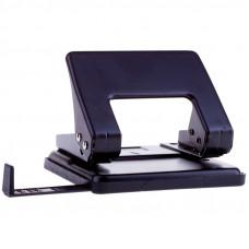 Дырокол OfficeSpace 20 л, металлический, черный, с линейкой