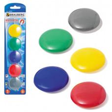 Магниты для досок 4см 5шт. BRAUBERG ,цвет ассорти