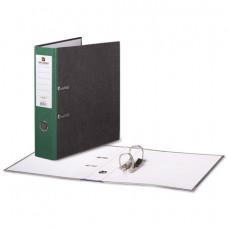 Папка-регистратор 80 мм мрамор, зел. корешок, BRAUBERG