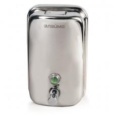 Диспенсер для жидкого мыла ЛАЙМА (гарантия 12 месяцев), 1 л, нержавеющая сталь, зеркальный, 601796