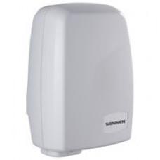 Сушилка для рук SONNEN HD-120, 1000 Вт, скорость потока 11,5 м/с, пластик, белая, 604190