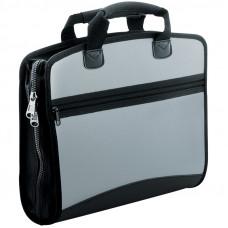 """Папка-портфель 4 отделения Berlingo """"Silver"""", A4, 380*280*50мм, 700мкм, серый металлик"""