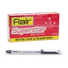 Ручка шар. черная Flair Superstar, пластик